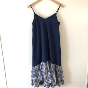 Asos Blue Check Mid Length Dress.  4